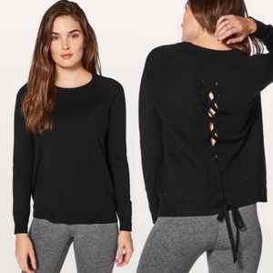 Lululemon Tied To You Sweater Wool Black